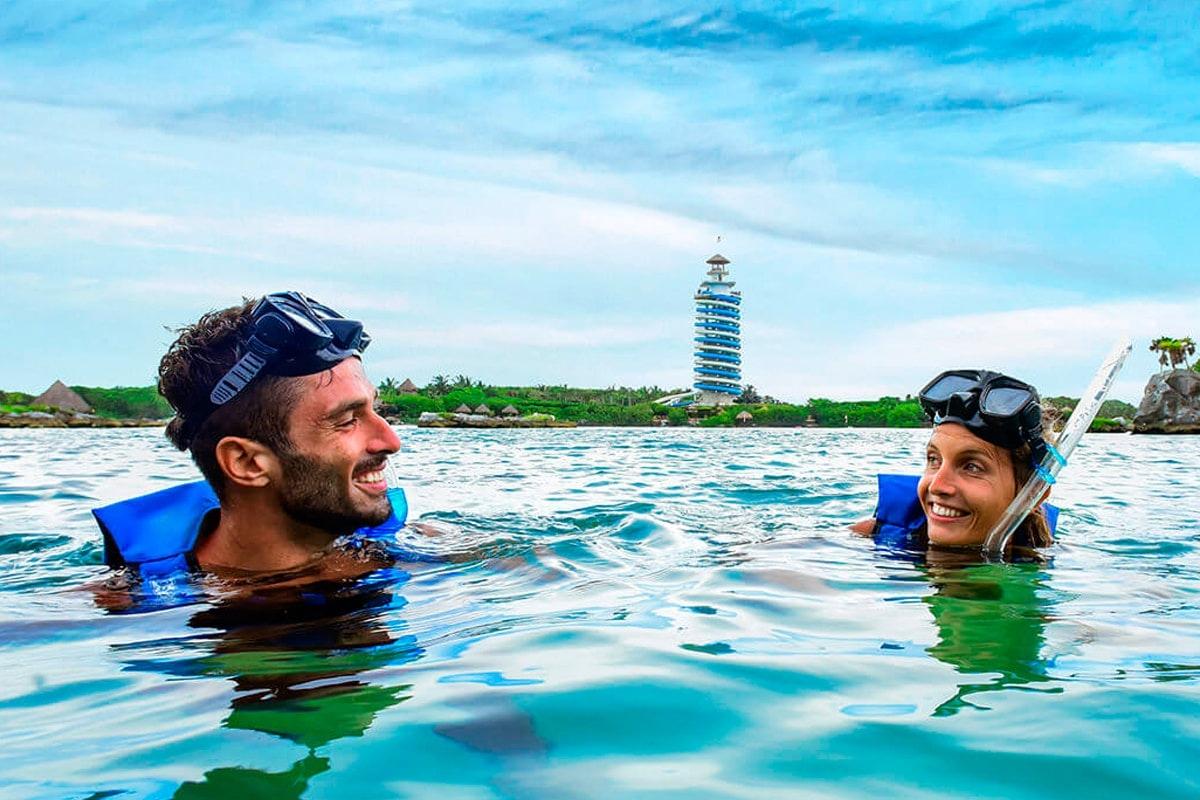 Tulum Ruins Tour & Xel-Ha All Inclusive Eco-Waterpark Excursion-0